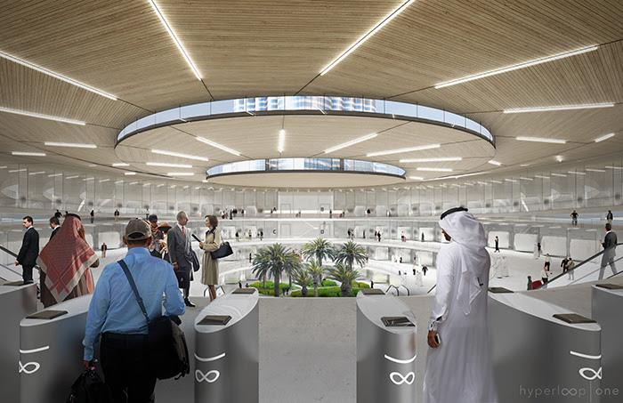 The hyperloop would transport people from downtown Dubai to downtown Abu Dhabi