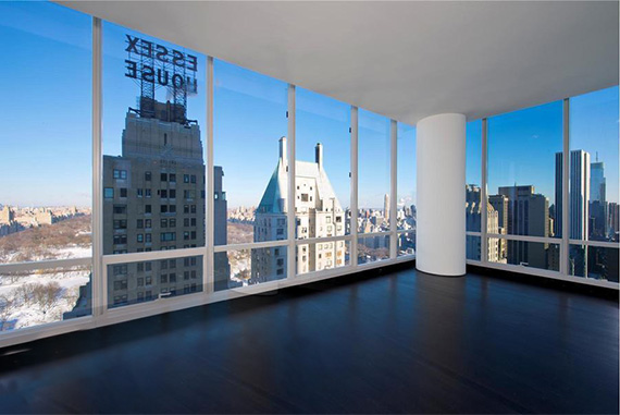 40th floor unit at One57, previously rented for $13,000/month