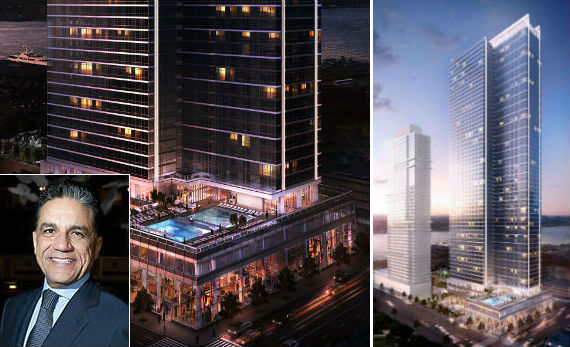 Renderings of 605 West 42nd Street and Joseph Moinian