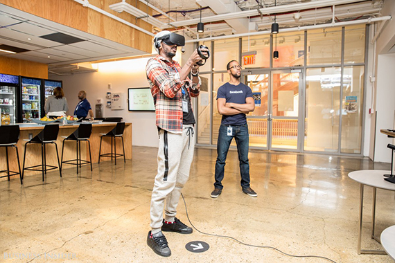 The perks aren't limited to the food. Employees can also enjoy board games or virtual reality sessions in the office. (credit: Sarah Jacobs via Business Insider)