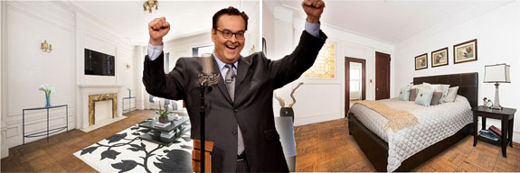 Steve Higgins (photo via Youtube) and 131 Riverside Drive