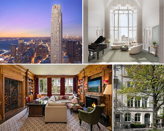 From top: 30 Park Place and 12 East 73rd Street