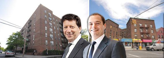 From left: 93-35 Lamont Avenue, Daniel Benedict, Douglas Eisenberg and 43-43 91st Place