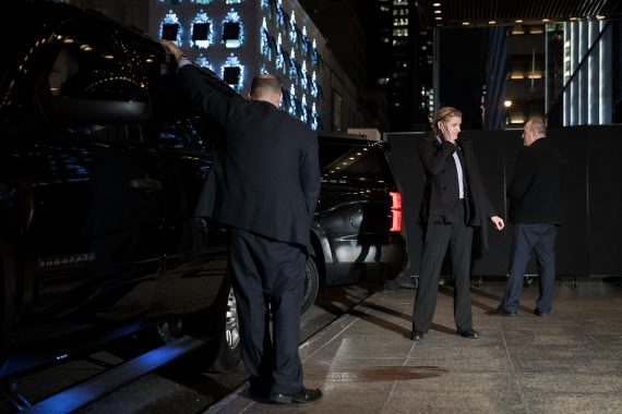 Members of the U.S. Secret Service outside of Trump Tower (Credit: Getty Images)