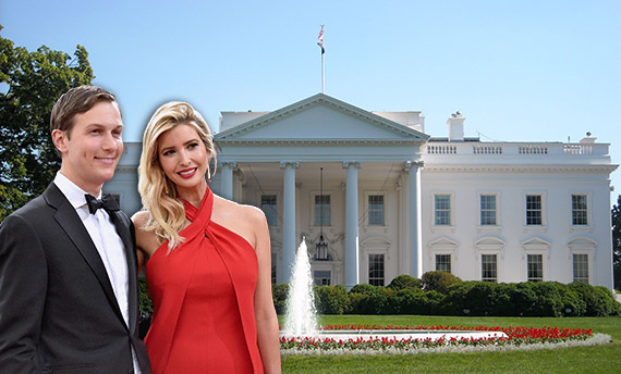 From left: Ivanka Trump, Jared Kushner and the White House