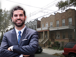 Rafael Espinal and homes in East New York in Brooklyn
