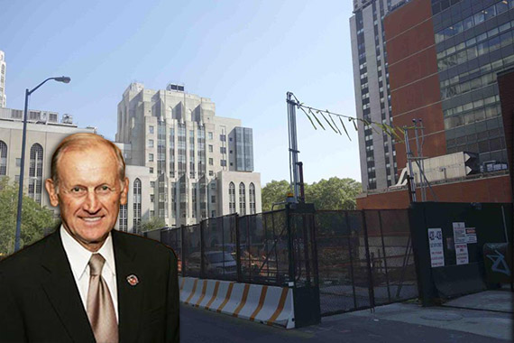 Richard Anderson and construction site at 1283 York Avenue