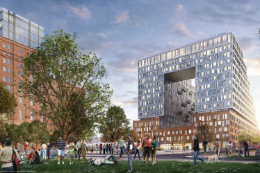Rendering of Domino Sugar Factory (Credit: SHoP Architects)