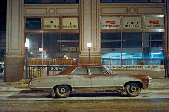 Subway Impala, Chevrolet Impala, 7th Avenue and 29th Street, 1975, Credit: Langdon Clay