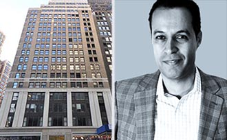 From left: 1375 Broadway and Crossix CEO Asaf Evenhaim