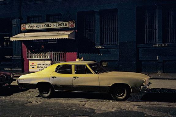 Pat's Hot and Cold Heroes car, Buick Skylark, Soho, 1976. Credit: Langdon Clay