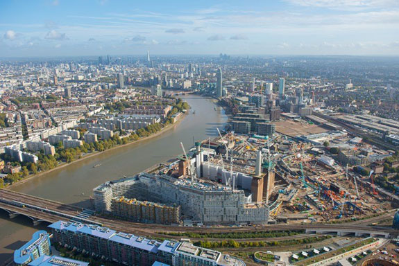 Construction of the Battersea Power Station Development in London, October 2016. (Jason Hawkes/The Battersea Power Station Company)