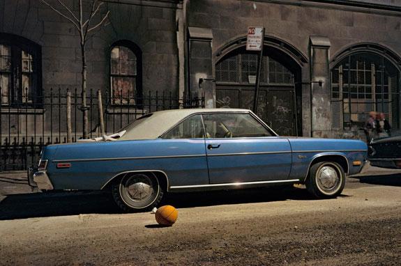 Basketball car, Plymouth Duster, 1974, Credit: Langdon Clay