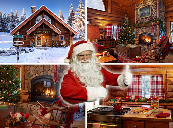 you may have imagined mr and mrs claus living it up in a north pole palace but it turns out that his digs are much more modest - Santa And The North Pole