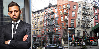 From left: Raphael Toledano, 253 East 10th Street and 27 St. Mark's Place in the East Village
