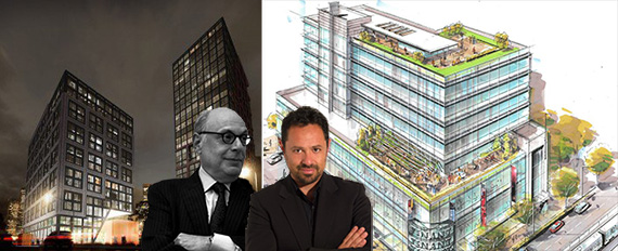 From left: Renderings of Park and (inset from left: Robert Levine and Eran Chen)
