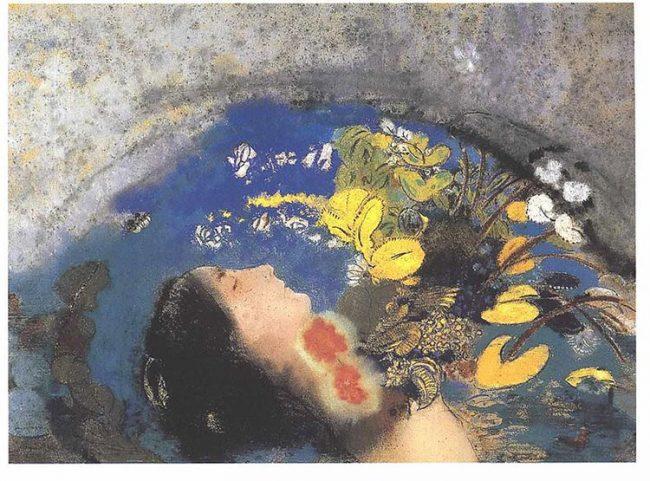 Odilon Redon's Ophelia