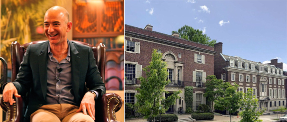Jeff Bezos (via Wiki Commons) and his new pair of mansions in Kalorama