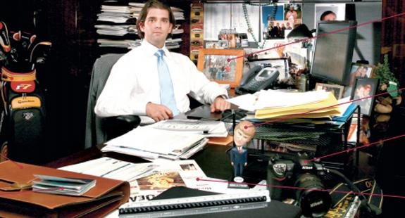 Eric Trump Desk Ivanka Donald Jr