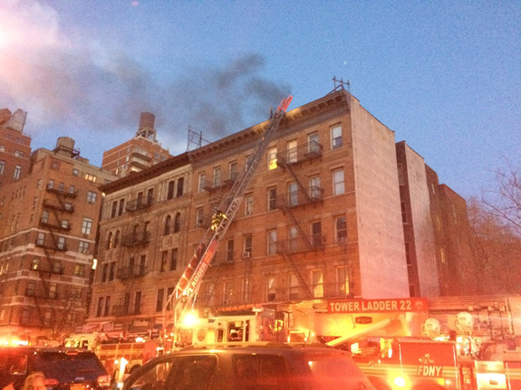 The fire at 511 Amsterdam Avenue via Mellowed Atheist (@AnAtheistOpines) on Twitter