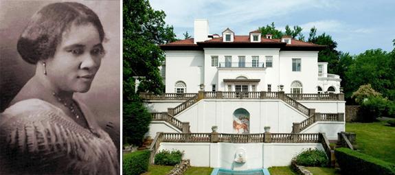 Madam Walker and Villa Lewaro (credit: David Bohl for Historic New England)