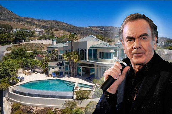 Neil Diamond and his house in Malibu
