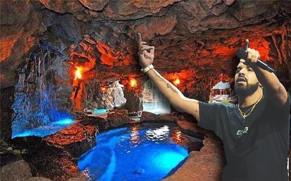 Inside Pool Cave drake home | drake pool | drake house