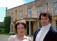 "Lucking Court and Colin Firth and Jennifer Ehle in ""Pride and Prejudice"""