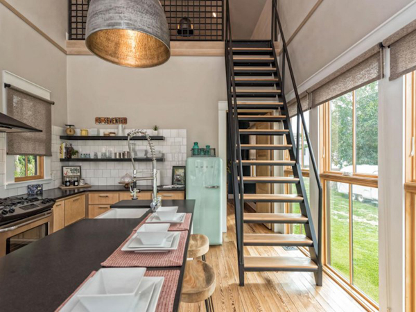 To Create Extra Living Space, The Gaines Added A Loft, Accessed By A  Ship Ladder Staircase.