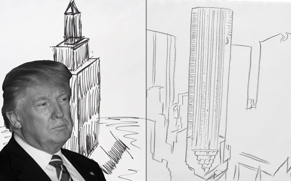 Trump's Empire State Building sketch sells for $16K