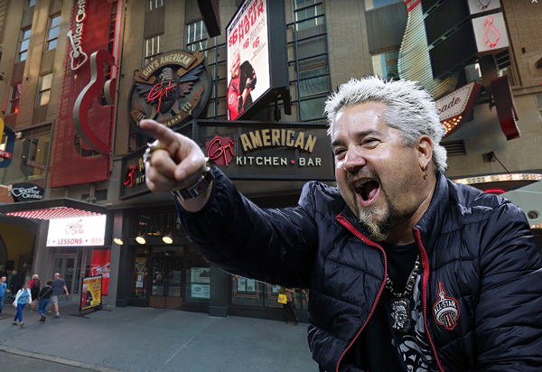Guy Fieri Times Square 220 West 44th Street
