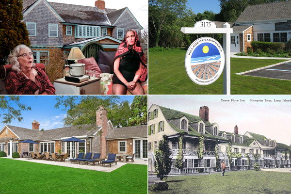 Clockwise From Top Left Grey Gardens In East Hampton Village Of Sagaponack Canoe Place Inn Bays 40 Further Lane