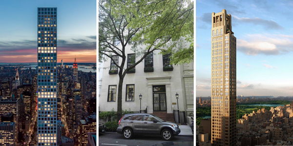 432 Park Avenue, 12 East 69th Street and 520 Park Avenue