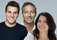 Brian Chesky, Laurence Tosi and Belinda Johnson
