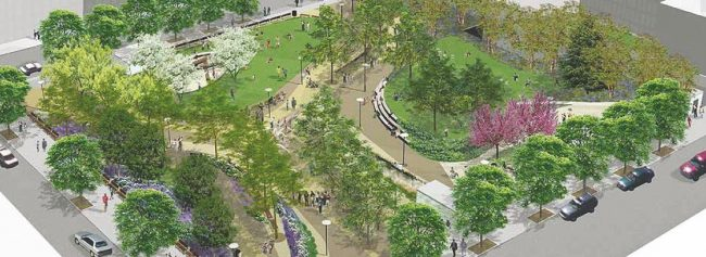 Rendering of Willoughby Square Park