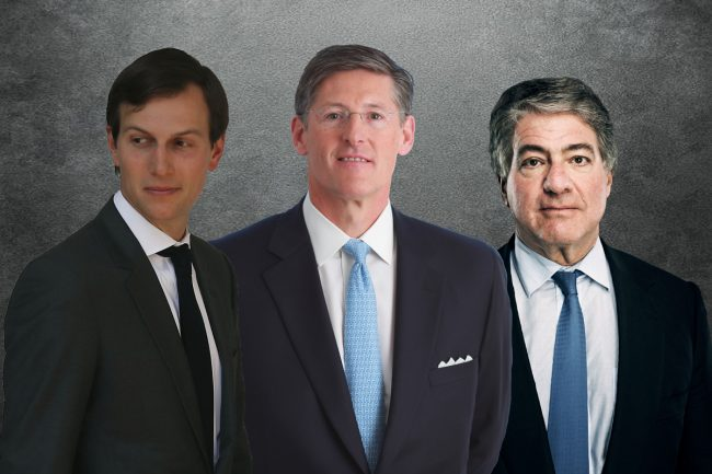 Jared Kushner, Citigroup's Michael Corbat and Apollo's Leon Black