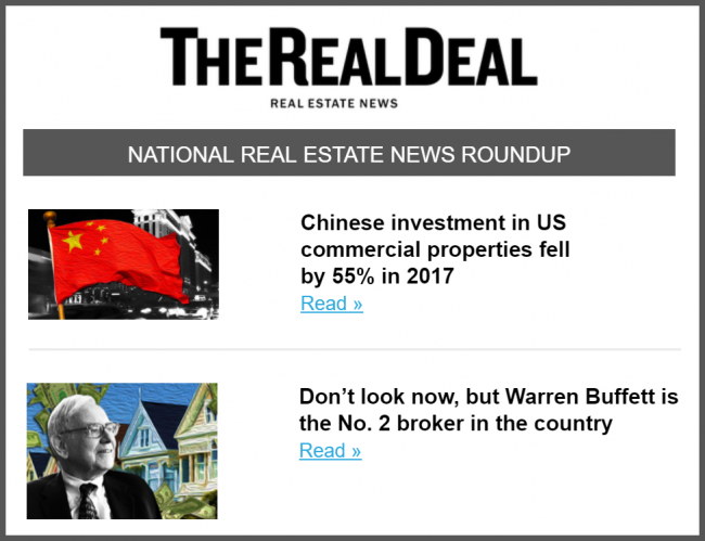 Real Estate Newsletter | U S Real Estate News The Real Deal National Newsletter