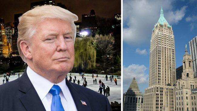 President Donald Trump, Wollman Rink and 40 Wall Street