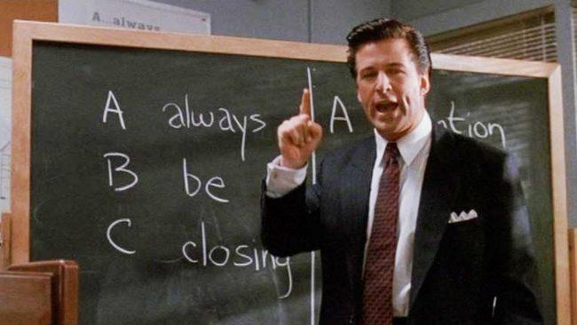 Alec Baldwin's Glengarry Glen Ross Scene (Credit: New Line Cinema)