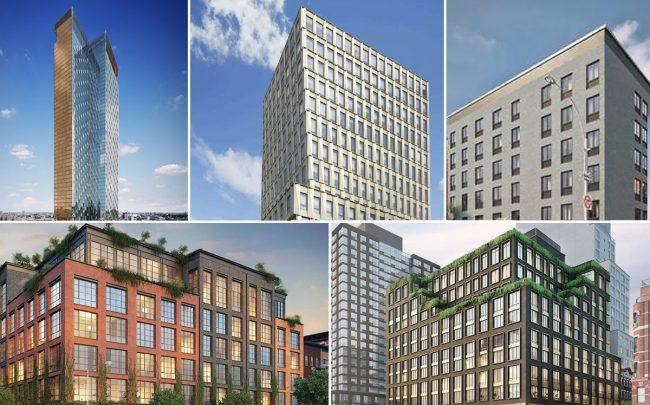 ef6a75d9 Clockwise from top left: 252 South Street, 242 Broome Street, 62 Avenue-B,  438 East 12th Street, and 196 Orchard Street (Credit: CityRealty and  Douglas ...