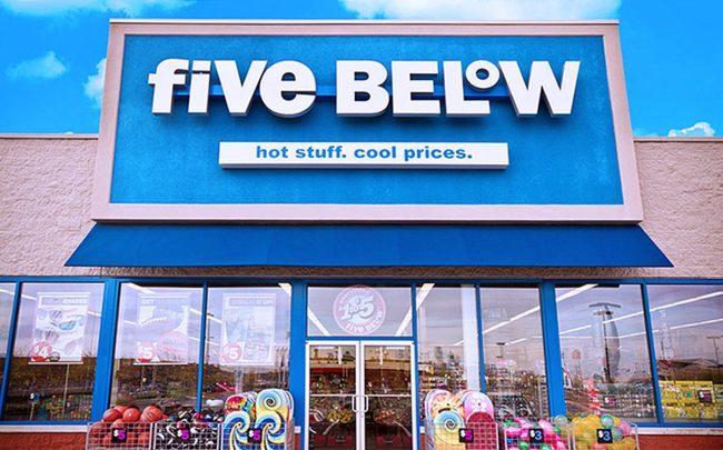 e42f33c0a A Five Below storefront (Credit  Five Below)