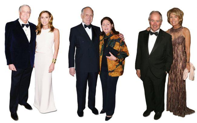 From left: David and Julia Koch, Ronald and Jo Carole Knopf Lauder, Stephen Schwarzman and Christine Hearst Schwarzman