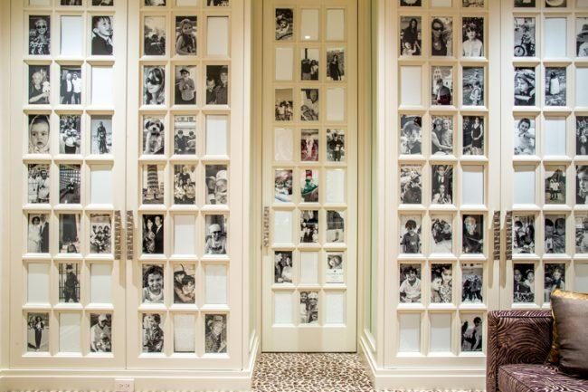 Closet doors now have family photos on them for a modern look.