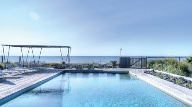 The view from an oceanfront home in Sagaponack, where the number of sales and prices has fallen.