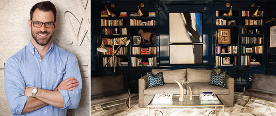 From left: Shawn Henderson and an interior by Janine Carendi MacMurray (Credit: Rachel Mcginn Photography)
