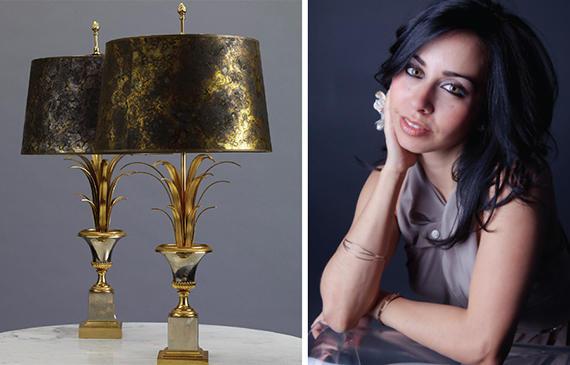 Charles et Fils lamps from antiques dealer Liz O'Brien and Vanessa Deleon