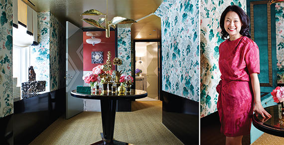 From left: Young Huh's display at the Kips Bay Decorator Showhouse and Young Huh