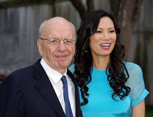 Rupert Murdoch and Wendi Deng in 2011