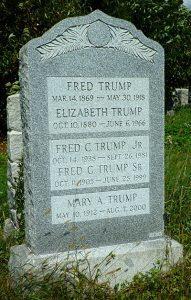 Trump gravestone (Image Credit : Judy B via Find A Grave)