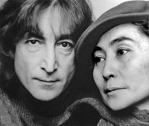 John Lennon and Yoko Ono (credit: Jack Mitchell via Wikipedia)